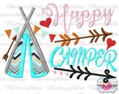 Happer Little Camper Embroidery Applique Design, dst, exp, hus, jef, pes, sew, vip, vp3, Digital INSTANT DOWNLOAD by Timetocraftshop on Etsy https://www.etsy.com/listing/521210369/happer-little-camper-embroidery-applique