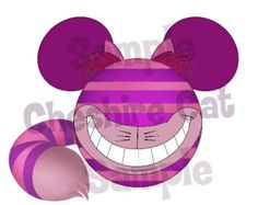 Cheshire Cat (Alice in Wonderland) Character inspired Mickey head DIGITAL printable file DIY