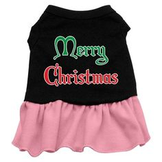 Mirage Pet Products 12-Inch Merry Christmas Screen Print Dress >> Quickly view this special dog product, click the image : Dog Dresses