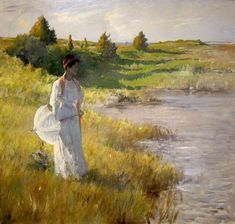 """William Merritt Chase was an American painter who thrived during America's Gilded Age. He is best known for his portraits and landscapes in the impressionist """"en plein air"""" (painted outdoors) style. San Diego, American Impressionism, Portraits, Famous Artists, Painting Inspiration, American Art, Art Museum, Indiana, Art Gallery"""