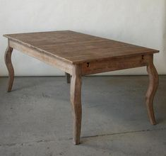 Limed Grey Oak French Style dining table, $495, available in New York  from Bridge Furniture & Props, LLC.