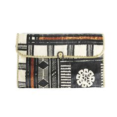 African Clutch Purse Vintage Tribal Print Clutch by honeymoonmuse