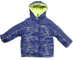 IXtreme - Navy Camo Print Boys 4-7 Frost Free Lime Contrast Puffer Winter Jackett (4). GREAT STYLE LIME DETAILED VELCOR FLAP HOODED LINED BOYS JACKET. COOL WINTER CLOTHING. 100% POLY. MACHINE WASH COLD. ZIPPED POCKETS.