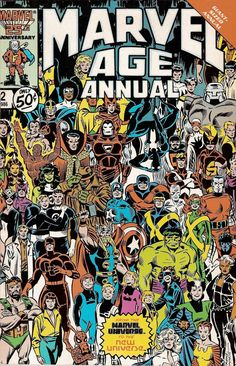 "marvel1980s: "" 1986 - Anatomy of a Cover - Marvel Age Annual #2 by Ron Frenz and Joe Sinnott """