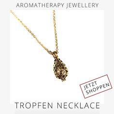 LOOK AMAZING AND FEEL AMAZING!  Discover SCENTED PENDANTS, the ultimate jewellery accessory used as #aromatherapy!  Available on 5ive-shop.com  #5iveShop #Aromatherapie #ÄtherischeÖle #aromaschmuck #accessoires #scentedpendants #duftamulett #lavabracelet #anhängerätherischeöle #HomeDekor #Wohnen #Wohlfühlen #Bundles #Angebote #Gesundheit #naturreineöle #wirstehenzusammen #steirischeinkaufen #österreich #regionalkaufen #aromatherapiezubehör Shops, Gold Necklace, Jewels, Together We Stand, Amulets, Health, Homes, Schmuck, Tents