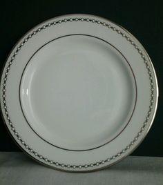LENOX PEARL PLATINUM Dinner Plate Fine China & Hutschenreuther White Dinner Plate Gold Rim Trim Germany | White ...