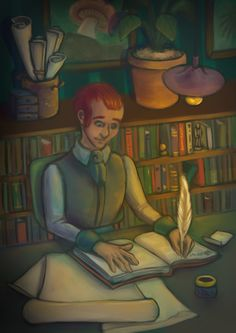 The illustration of The Diary of a Scholar - 1.