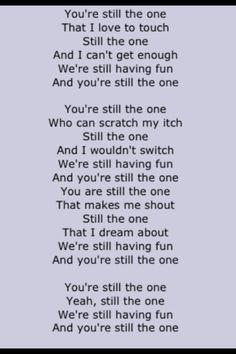 You re still the one orleans lyrics