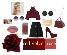 """""""red velvet rose"""" by saggittarius ❤ liked on Polyvore featuring W118 by Walter Baker, Miu Miu, ALDO, Astley Clarke, Elsa Peretti, Charlotte Russe, Givenchy, Spitfire, LMNT and Anastasia Beverly Hills"""