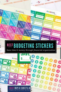 Budget Saving Spending Planner Stickers. Can be used with Erin Condren ECLP, Happy Planner.