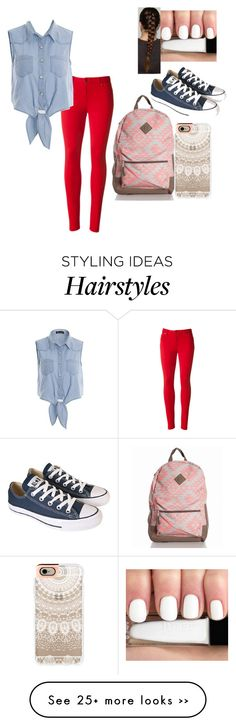 """""""Back to school"""" by kaynigela on Polyvore featuring Converse, Casetify, Summer, BackToSchool and denim"""