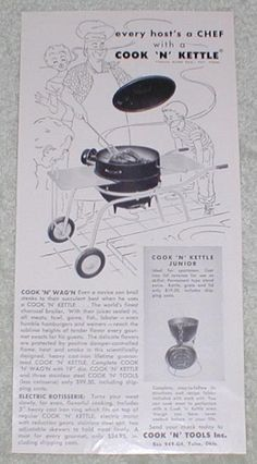 Cook N Kettle ads from 1955