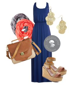 """""""Summer Night Stroll Dress"""" by modcloth ❤ liked on Polyvore featuring INDIE HAIR"""