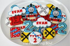 Birthday & Character cookies - The Pink Mixing Bowl