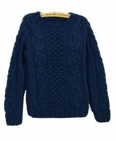 Round Neckline Manual Twist Sweater