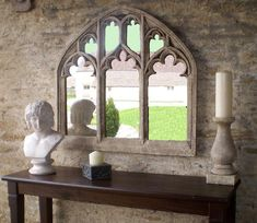 Beautiful gothic Church Window arch Mirror Overmantel home   Etsy Mirror Over Fireplace, Mantel Mirrors, Arch Mirror, Window Mirror, Church Windows, Arched Windows, Church Foyer, Baroque, Mirrors