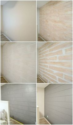 GORGEOUS!! Installing your own shiplap can be super easy! This is a great…