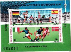 1988 Romania Stamp Block ,Michel nr.241 (110X80mm) GERMANY 1988 European Champ