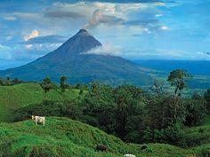 Costa Rica: the volcano we'll be biking too.