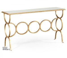 Églomisé & iron circles console (Gold) Also available in bronze and silver