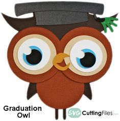 Free SVG Cutting File: Graduation Owl