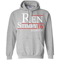 EEDIOTS! Ren Stimpy 2016 T-Shirt -01 Pullover Hoodie 8 oz