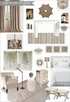 A posh and glamorous guest room with an adjacent hallway for under $4,000 | #CopyCatChicRoomDesign