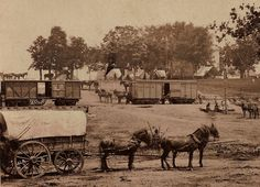 Civil war camp.  Taken in Virginia in May 1862.