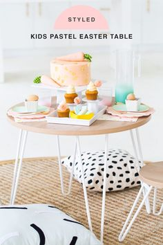 Learn how to create this Perfectly Simple Pastel Easter Table Setting with the new Sugar & Cloth entertaining line! Easter Brunch, Easter Party, Filled Easter Baskets, Easter Table Settings, Home Decor Quotes, Easter Printables, Easter Celebration, Kid Table, Egg Decorating