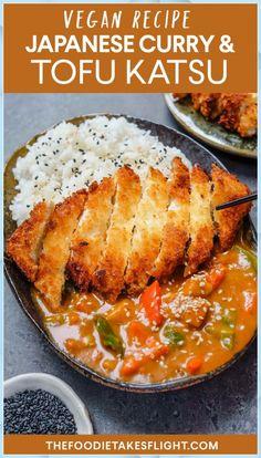Japanese Tofu Katsu in Curry (Vegan Recipe) - vegan delights - . - Japanese Tofu Katsu in Curry (Vegan Recipe) – vegan delights – delicaci - Vegan Dinner Recipes, Veggie Recipes, Asian Recipes, Whole Food Recipes, Cooking Recipes, Healthy Recipes, Vegan Recipes With Potatoes, Good Vegan Recipes, Lunch Recipes