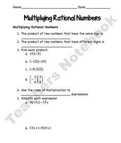 multiplying and dividing rational numbers worksheets math aids com pinterest number. Black Bedroom Furniture Sets. Home Design Ideas