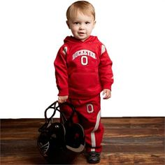 Keep your little fan warm this season in this embroidered Ohio State hooded sweat suit. Ohio State Baby, Buckeyes, Baby & Toddler Clothing, Canada Goose Jackets, Winter Jackets, Suits, Winter Coats, Winter Vest Outfits, Suit