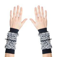 Wrist Zips   Wrist Wallets   Black and White Animal Print