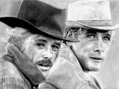 Robert Redford And Paul Newman by Vince Diodato - Robert Redford ...