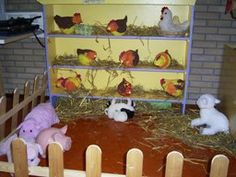 Farm Theme for preschool Dramatic Play Area, Dramatic Play Centers, Preschool Centers, Preschool Themes, Role Play Areas, Insect Crafts, Farm Unit, Farm Activities, Play Based Learning