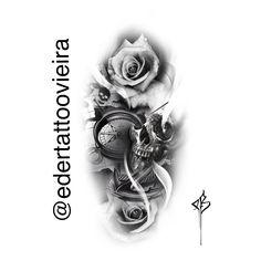 Tattoos For Guys, Tattoos For Women, Cool Tattoos, Full Arm Tattoos, Hand Tattoos, Tattoo Sketches, Tattoo Drawings, Skull Sleeve Tattoos, Tattoo Studio
