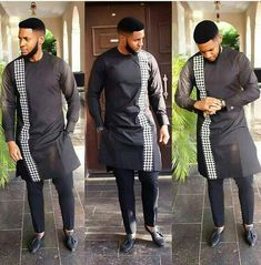 Posi African men shirt and a matching pant set/African clothing/African men clothing/ grooms men sh African Dresses Men, African Attire For Men, African Clothing For Men, African Shirts, African Wear, African Outfits, Dashiki Shirt, Mens Kurta Designs, Nigerian Men Fashion
