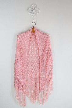 Stunning Rare 1960's 1970's  silk pink  Knitted by DorisVintage, $229.00