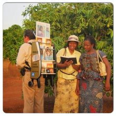 Cart (trolley) witnessing in the Cote d Ivoire (6 of 10) @jwarchive