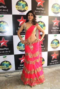 shilpa shetty in a gorgeous bright pink lengha