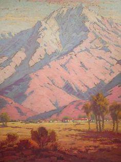 Early California Impressionism - Old Las Palmas, Palm Springs by Sam Hyde Harris (1889-1977) c.1928