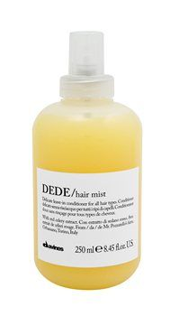 Davines DEDE HAIR MIST (250ml) davines DEDE HAIR MIST Ideal for daily use. Its leave-on formula is recommended for untangling fine hair. It does not weigh down the hair. it moisturizes and remineralizes all types of hair. it is ide http://www.MightGet.com/january-2017-12/davines-dede-hair-mist-250ml-.asp