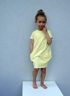 Kleider - Sweatshirt Kleid - Vanille - ein Designerstück von millupa bei DaWanda