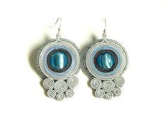 Soutache soutacheboucles d'oreilles bijoux  boucle par ShoShanaArt, $26.00