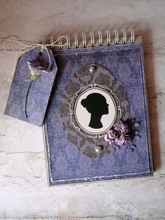 Elegant feminine notebook made by Asica.p Paper: Hectic Eclectic #4.