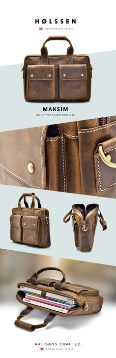 Our Holssen Maksim Briefcase is a handsome everyday briefcase carefully designed for today's go-getters.