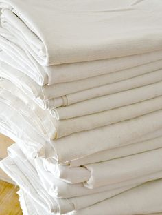 Creamy White Vintage Linen Sheets