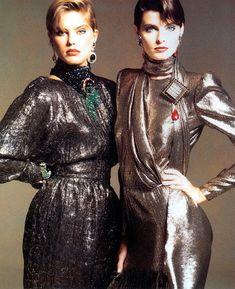 RENEE SIMONSEN & JOAN SEVERANCE Valentino 1988