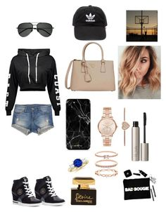 """basketball"" by carmencomp on Polyvore featuring Tommy Hilfiger, Flying Monkey, Prada, Yves Saint Laurent, Michael Kors, Accessorize, Ilia, Dolce&Gabbana and adidas"