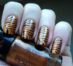 Konad M57, Zebra/Tiger, Black/Gold